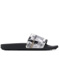 Rick Owens frayed edge slides