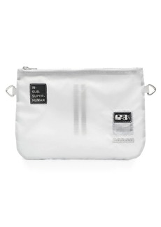 Rick Owens frosted logo clutch