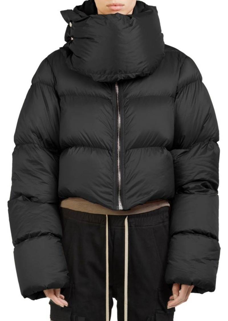f8d57969fe6 Rick Owens Funnel-Neck Cropped Puffer Jacket
