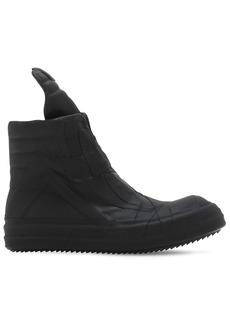 Rick Owens Geobasket Patchwork Rubber Sneakers
