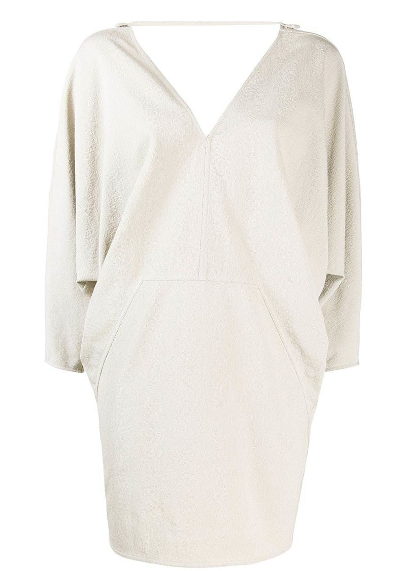 Rick Owens geometric draped shift dress
