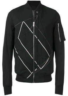Rick Owens geometric embroidery bomber jacket