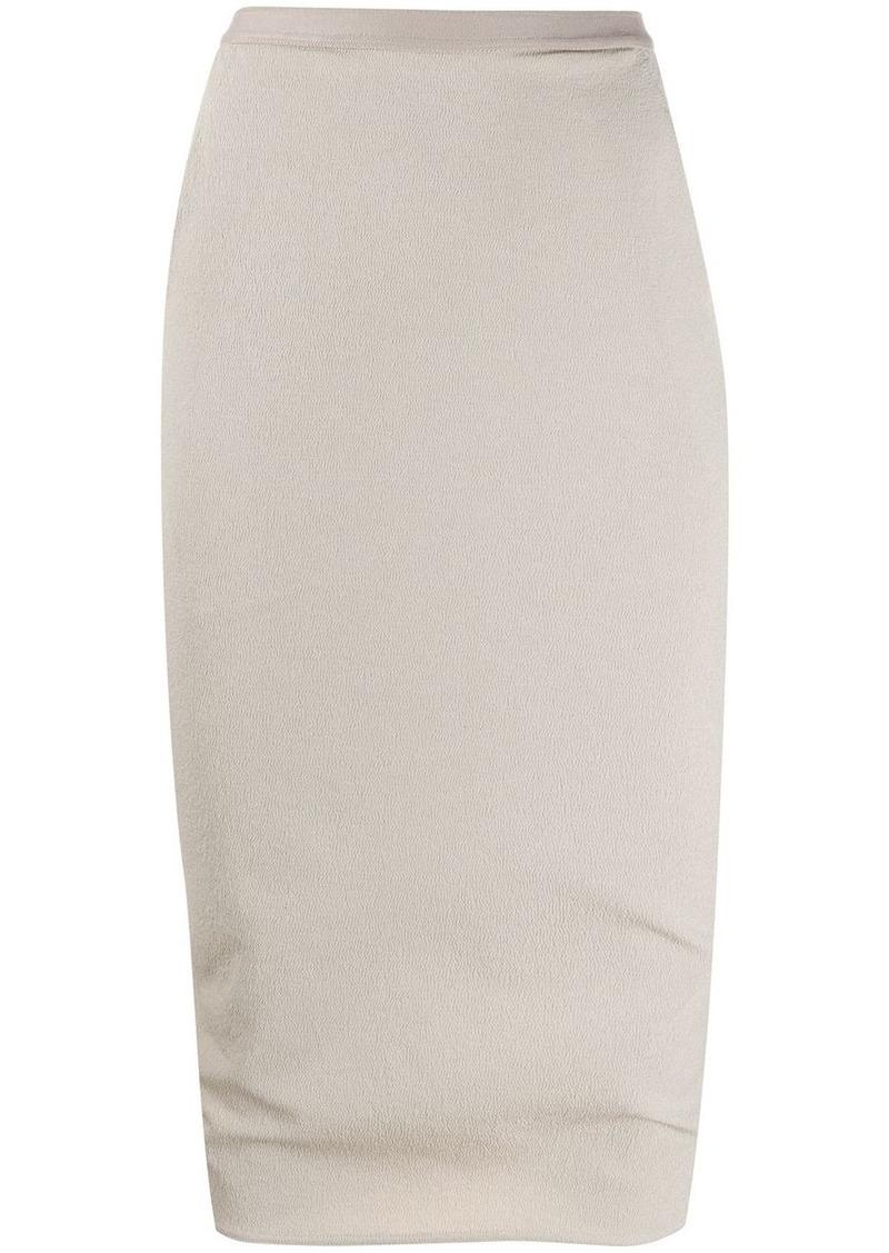 Rick Owens geometric panelled pencil skirt