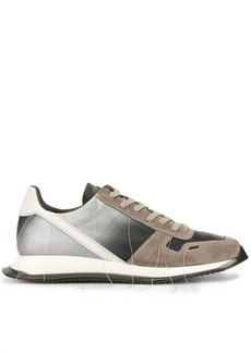 Rick Owens gradient panel sneakers