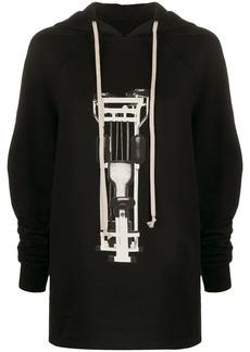 Rick Owens graphic-print hoodie