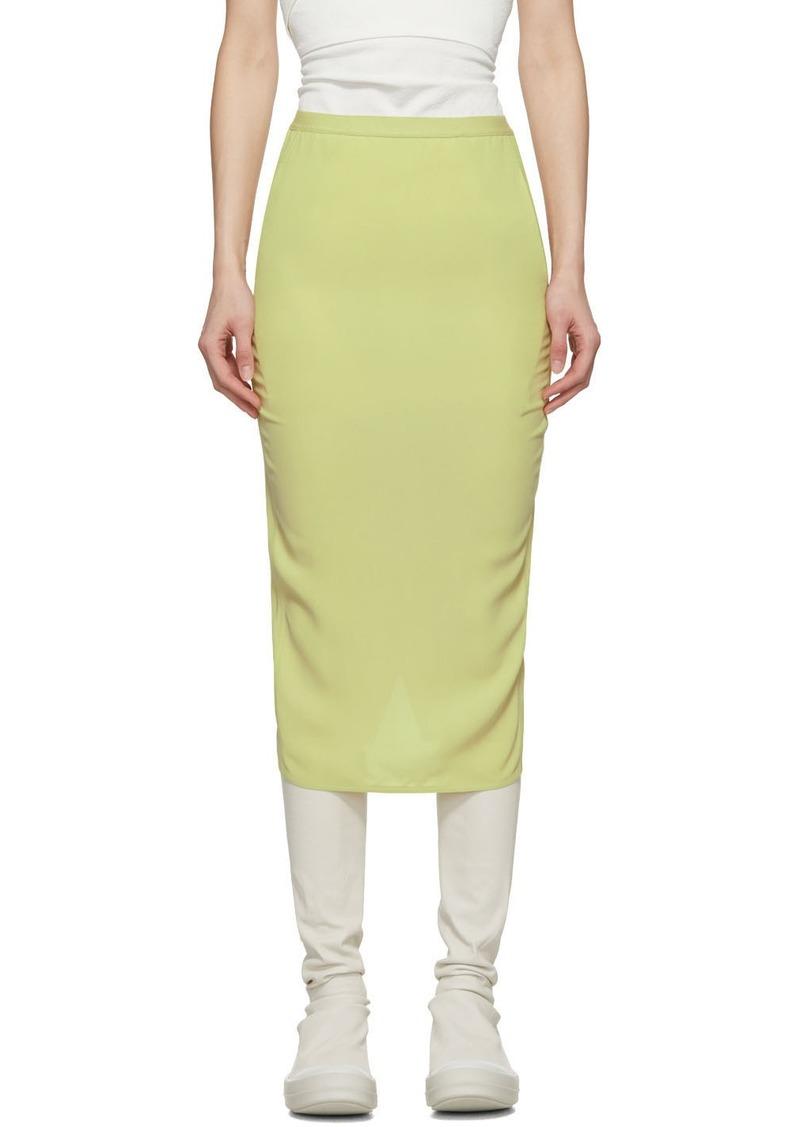 Rick Owens Green Soft Pillar Short Skirt