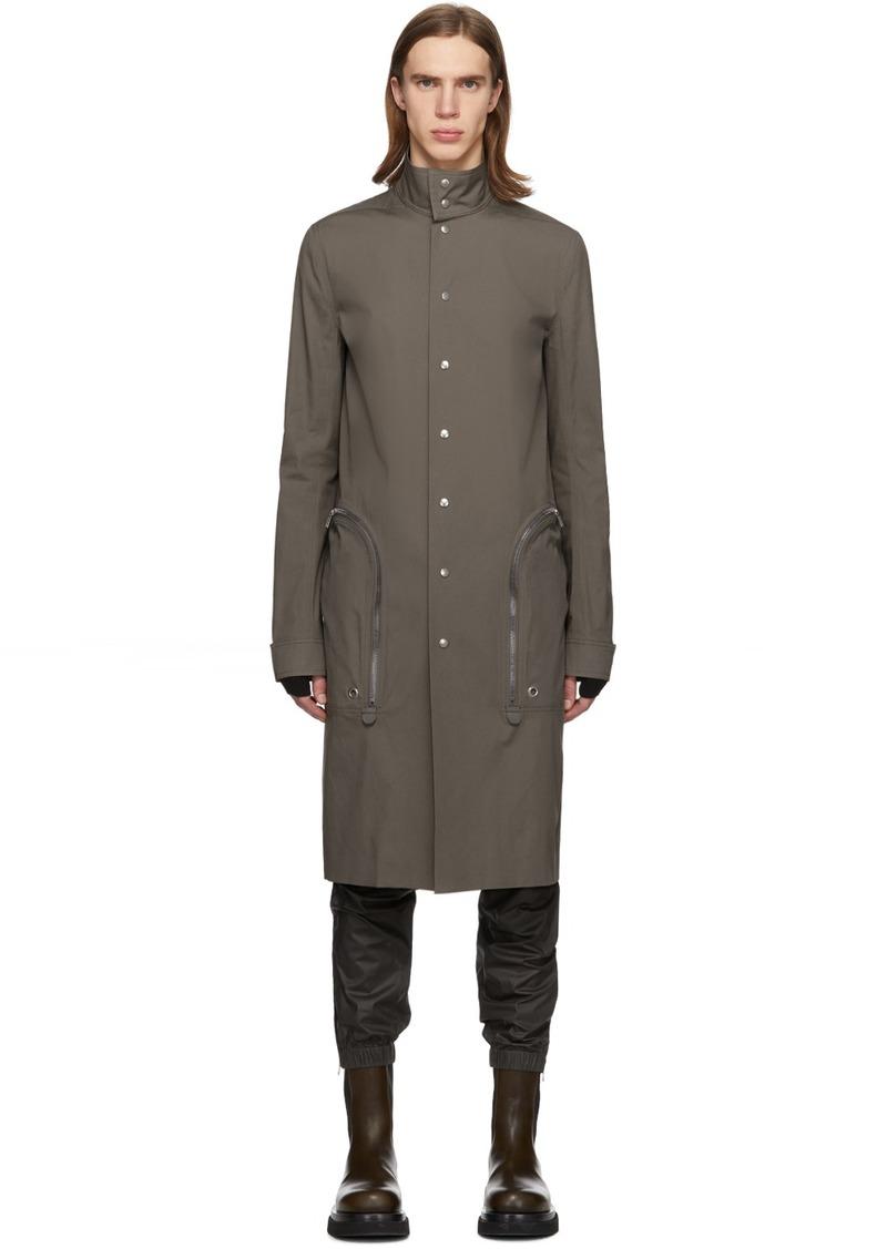 Rick Owens Grey Creatch Pealab Coat