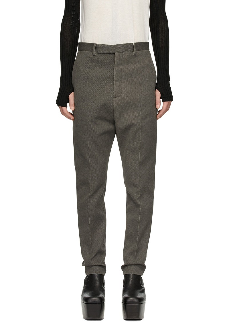 Rick Owens Grey Linen Astaires Trousers