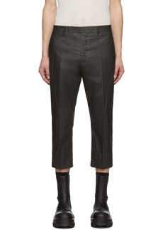 Rick Owens Grey Slim Astaires Cropped Trousers