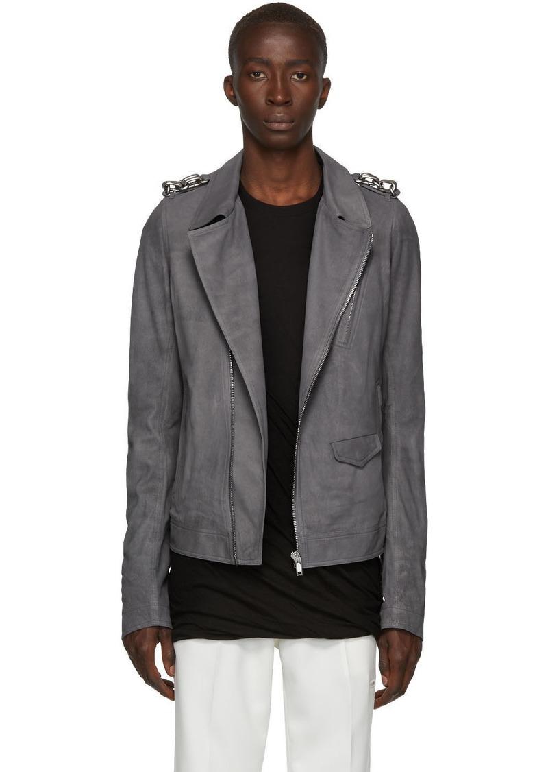 Rick Owens Grey Stooges Jacket