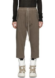 Rick Owens Grey Tecuatl Cropped Sweatpants