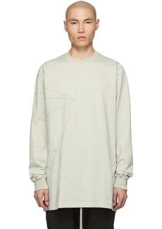 Rick Owens Grey Topstitching Sweatshirt