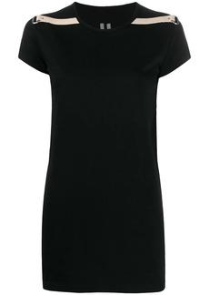 Rick Owens grosgrain-trimmed T-shirt
