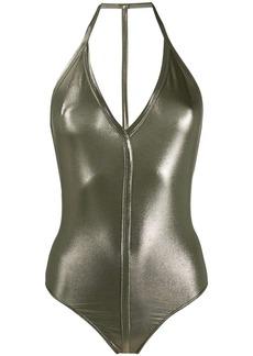 Rick Owens halterneck T-bar swimsuit