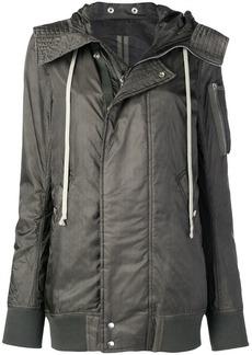 Rick Owens hooded bomber jacket