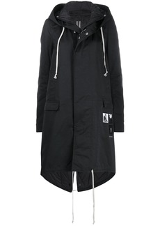 Rick Owens hooded mid-length coat