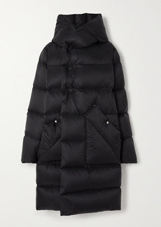 Rick Owens Hooded Quilted Shell Down Coat