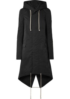 Rick Owens Hooded Stretch Knit-trimmed Twill Parka