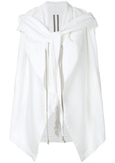 Rick Owens hooded tie front top
