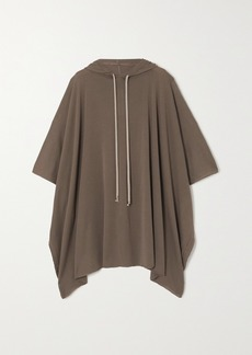 Rick Owens Hooded Wool Poncho