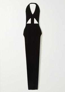 Rick Owens Ixta Backless Cutout Stretch-knit Maxi Dress