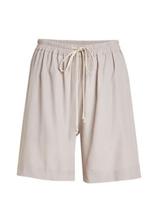 Rick Owens Jersey Shorts with Silk