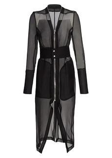 Rick Owens Klaus Sheer Silk Coat