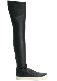 Rick Owens knee-length sneaker boots
