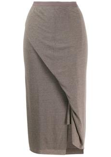 Rick Owens knitted midi skirt