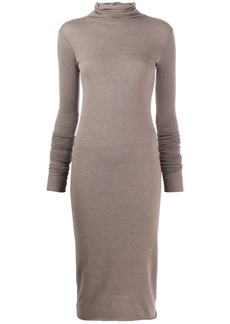Rick Owens knitted roll neck dress