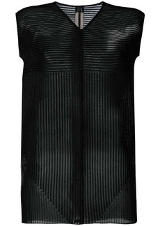 Rick Owens knitted striped panel top