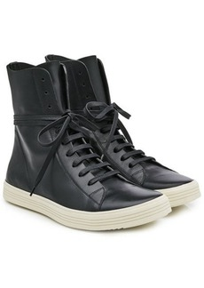 Rick Owens Lace Up Leather Sneakers