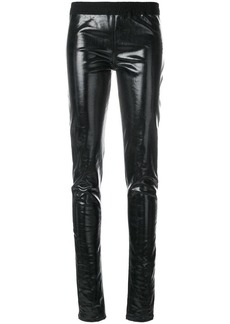 Rick Owens lacquered denim simple leggings