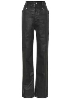 Rick Owens DRKSHDW lacquered straight jeans