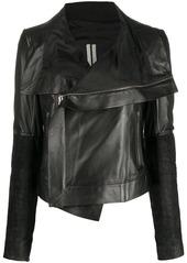 Rick Owens Larry draped biker jacket