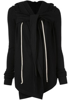 Rick Owens Larry hooded wrap jacket