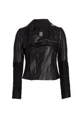 Rick Owens Larry Leather Biker Jacket