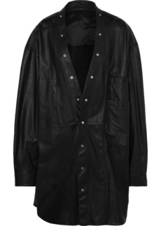 Rick Owens Larry Oversized Leather Shirt