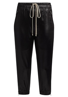 Rick Owens Latex Cropped Track Pants