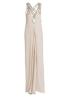 Rick Owens Lattice Maxi Slip Dress
