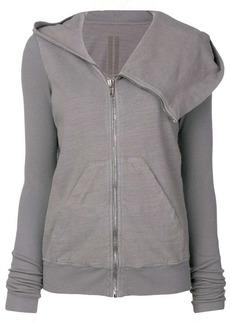 Rick Owens layered zip hoodie