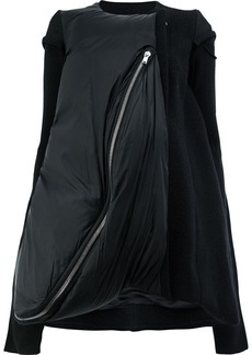 Rick Owens layered zip jacket