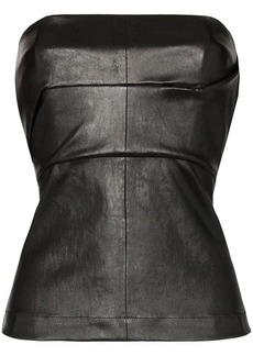 Rick Owens leather corset bustier