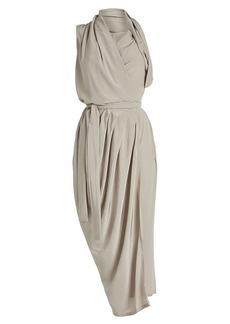 Rick Owens Limo Draped Silk Dress