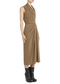 Rick Owens Limo Silk Crepe Wrap Dress
