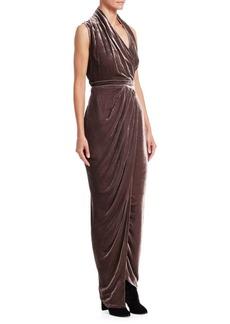 Rick Owens Limo Velvet Wrap Dress