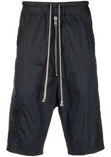 Rick Owens logo-embroidered shell shorts