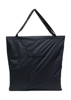 Rick Owens logo-embroidered tote bag