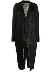 Rick Owens long creased-effect coat