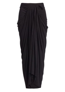 Rick Owens Long Draped Skirt